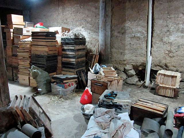 The beekeeper's shed before I started to sort.