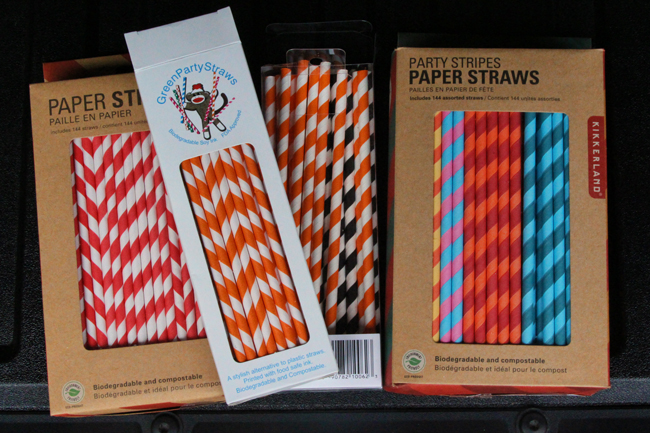 An-assortment-of-paper-straws
