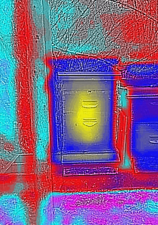 Flir images aid overwintering success by showing the size and position of the colony.
